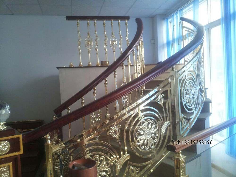 廣東銅藝世家鋁藝欄桿-鋁藝樓梯