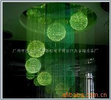光纖造型吊燈(圖)立體感光纖是靈活多變的