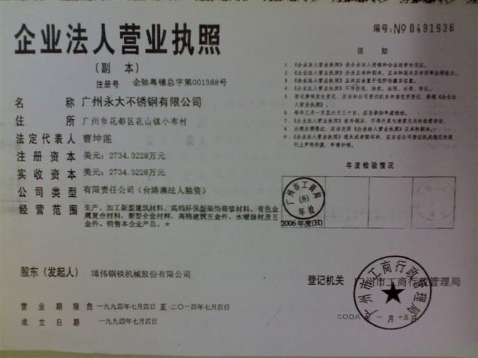 广州永大不锈钢有限公司(国内营业部)