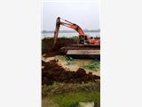 湿地清淤机械水陆挖掘机出租广州白云黄埔番禺