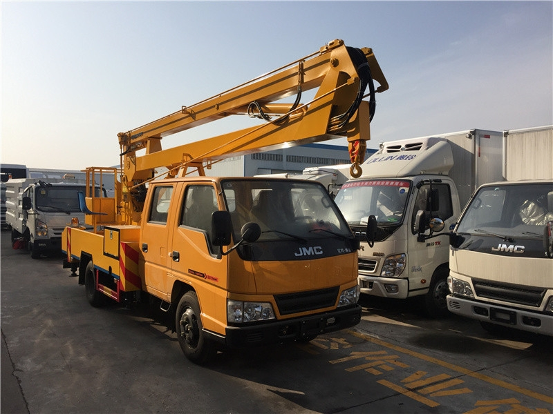河南18米设备维修折臂高空车图片资料