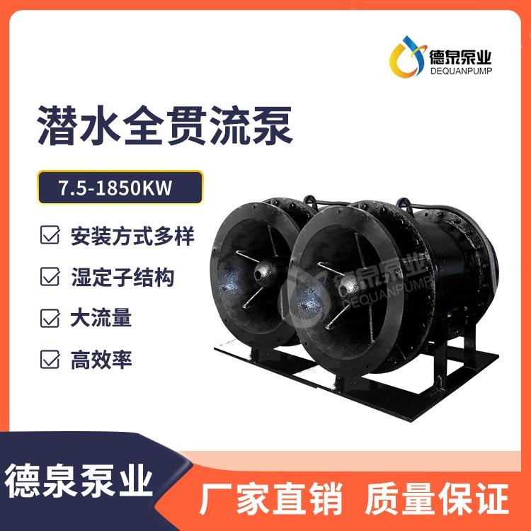 山東700QGLN-155KW葉輪內置貫流泵_潛水貫流泵生產制造商