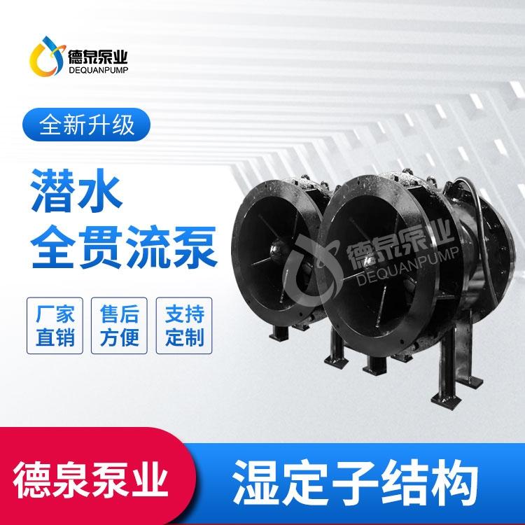 浙江700QGWZ濕式貫流泵價格 全貫流泵性能參數 德泉水利