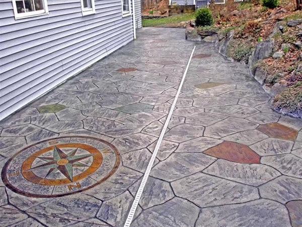 黄山黄山水泥压花地坪模具——谋成地坪售后
