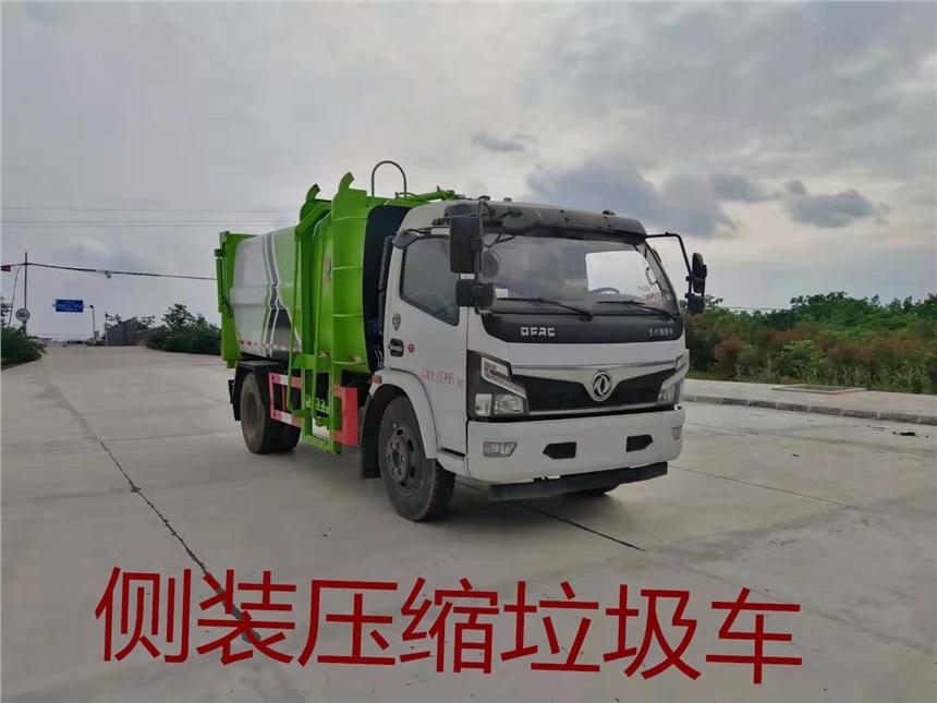 盘锦挂桶垃圾车厂家图片配置    国六侧装挂桶垃圾车