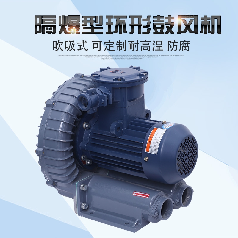源头厂家供应bt4高压漩涡风机旋涡式气泵0.75KW防爆高压风机