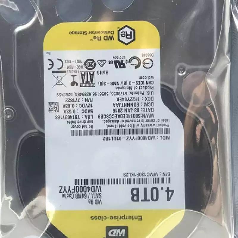 西部數據 WD4000FYYZ 4TB監控硬盤 7200轉黑盤 企業級硬盤