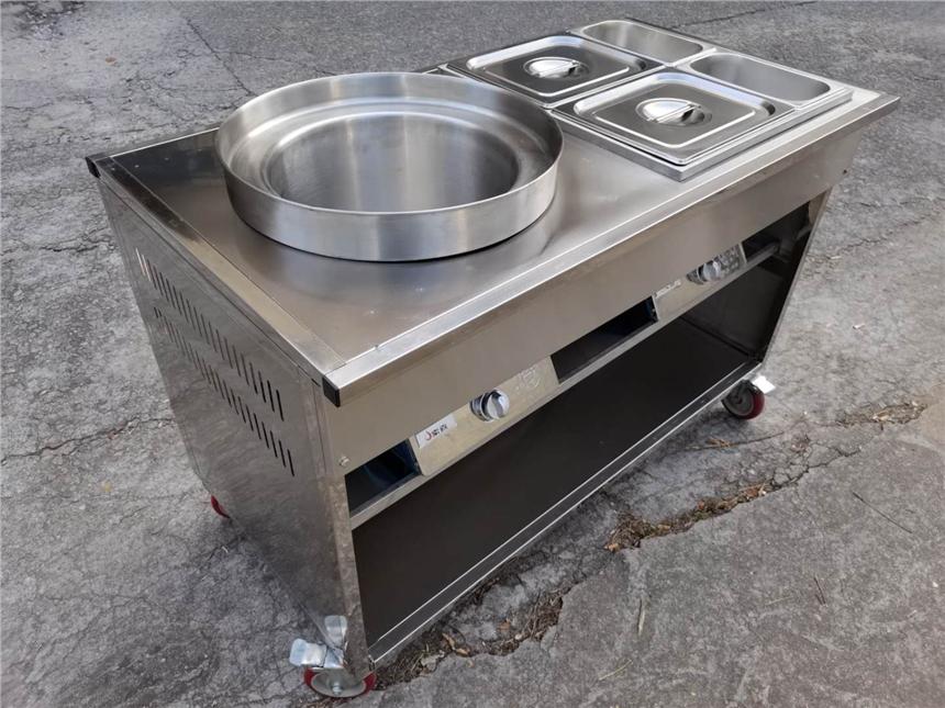佛山格蘭德不銹鋼1米1燃氣移動擺攤串串牛雜車材料加厚