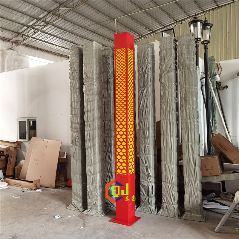 中国风庭院灯定制4米6米8米景观灯镂空龙鳞纹落地户外灯