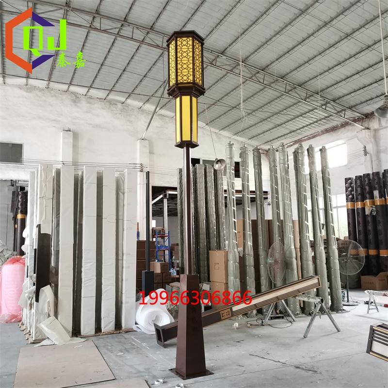 廠家供應亞克力單頭庭院燈鐵藝烤漆立柱燈