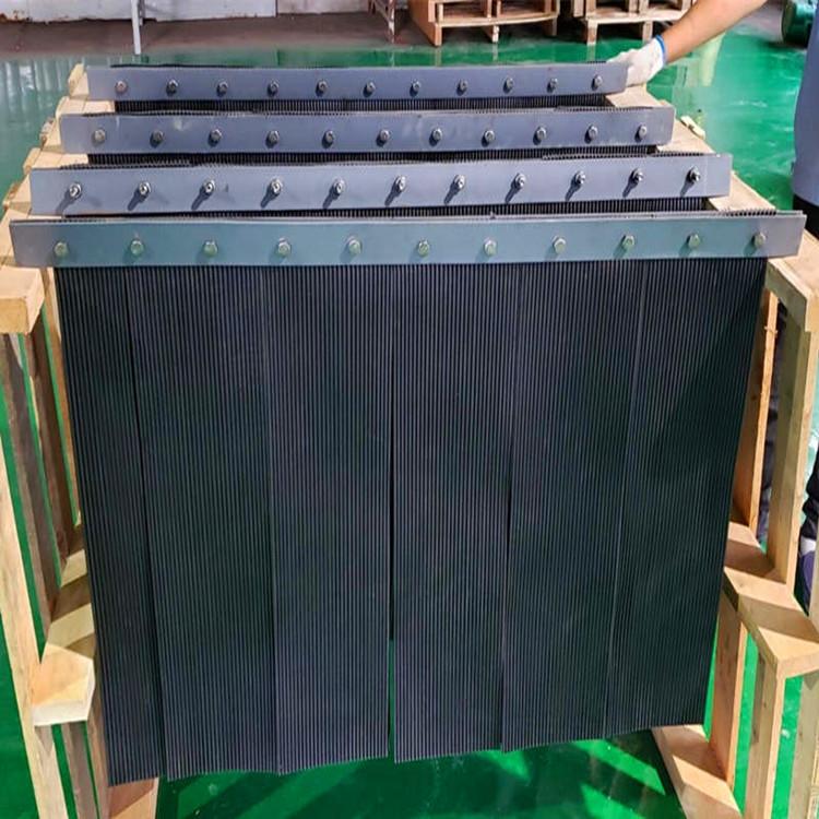 阻燃型橡膠防塵簾山東美奐導料槽密封軟橡膠簾生產廠家