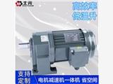 變頻小型齒輪減速機0.1KW-3.7KW士元電機減速機一體機