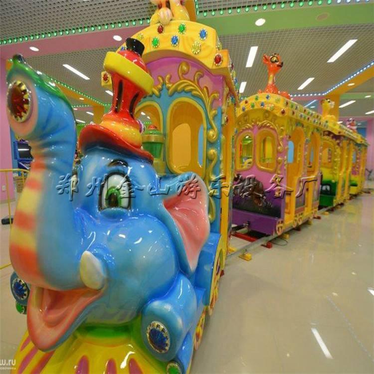儿童款游乐设备大象火车 无轨大象火车 大象火车厂家