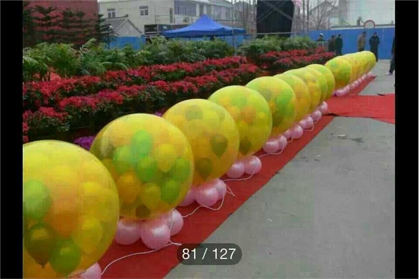 湖南婚礼地爆气球、天爆气球、婚礼气球特效