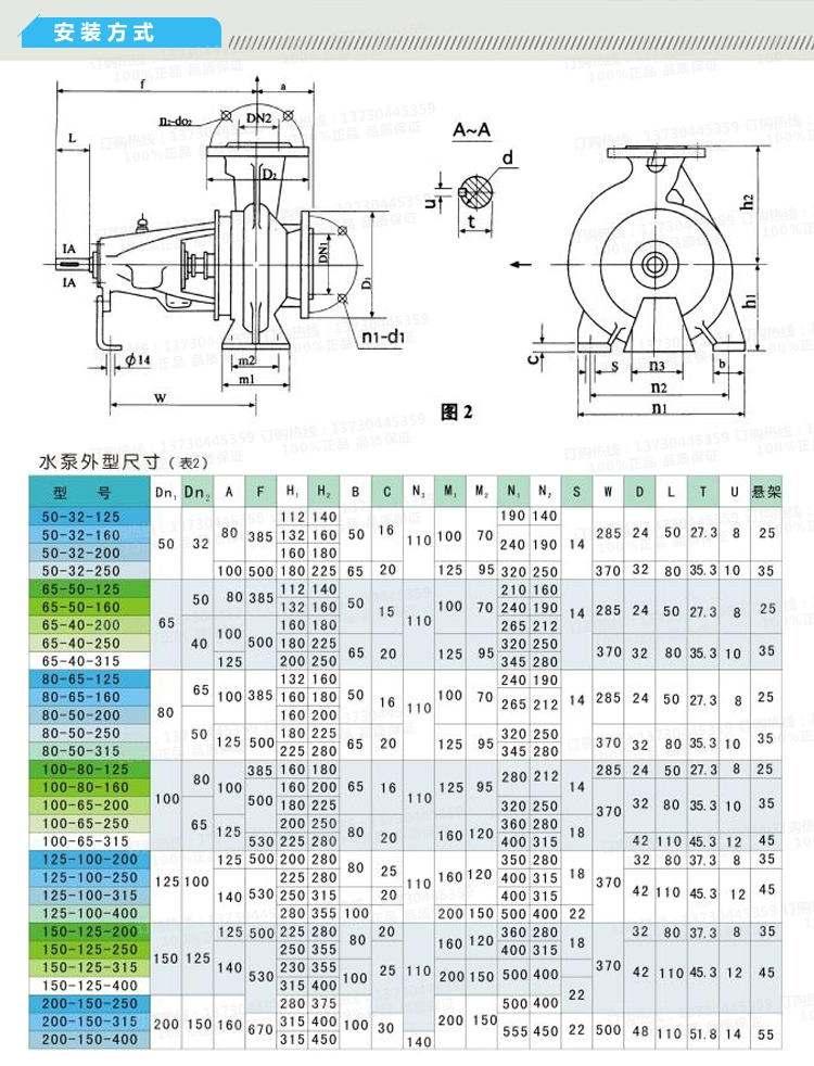 大理家用清水泵价格及图片IS150-125-315爱采泵业