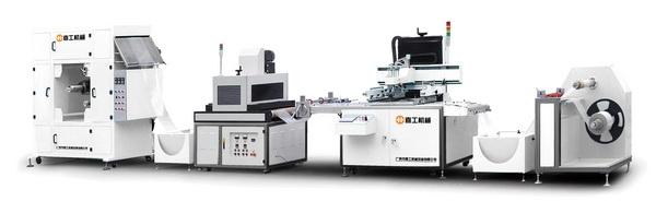 深圳絲印機廠家-不干膠貼花全自動絲網印刷機 重復定位,對色準確