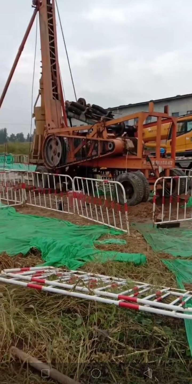 河北保定電力鐵塔樁基施工,電力鐵塔基礎打樁施工