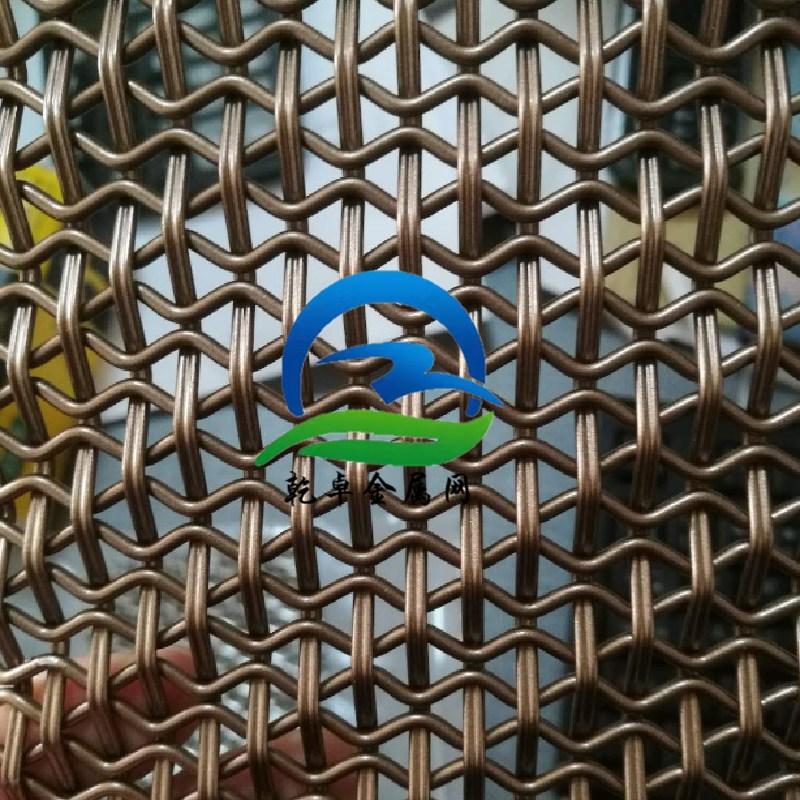 金色不銹鋼網片工業風隔斷裝飾窗簾網玫瑰金色鐵絲網鋁絲網鐵絲網