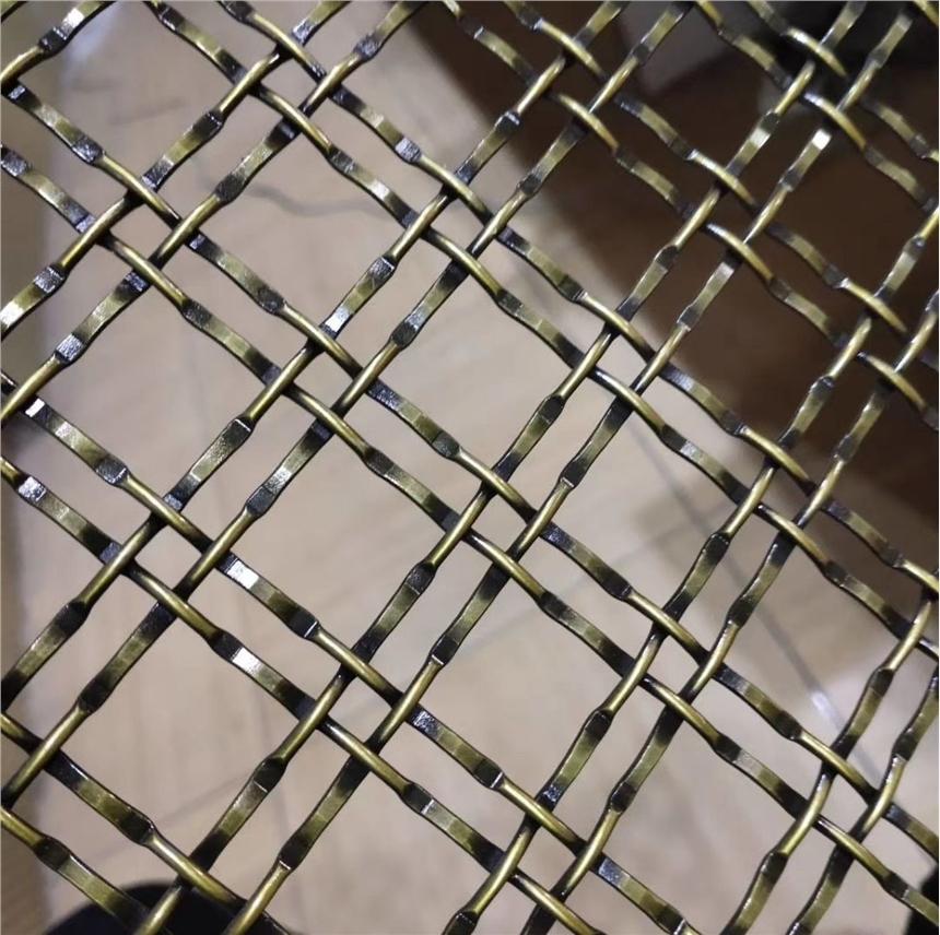 裝飾金屬編織 拉伸格柵網格 暖色藝術吊頂 造型軟鐵絲鋼絲網