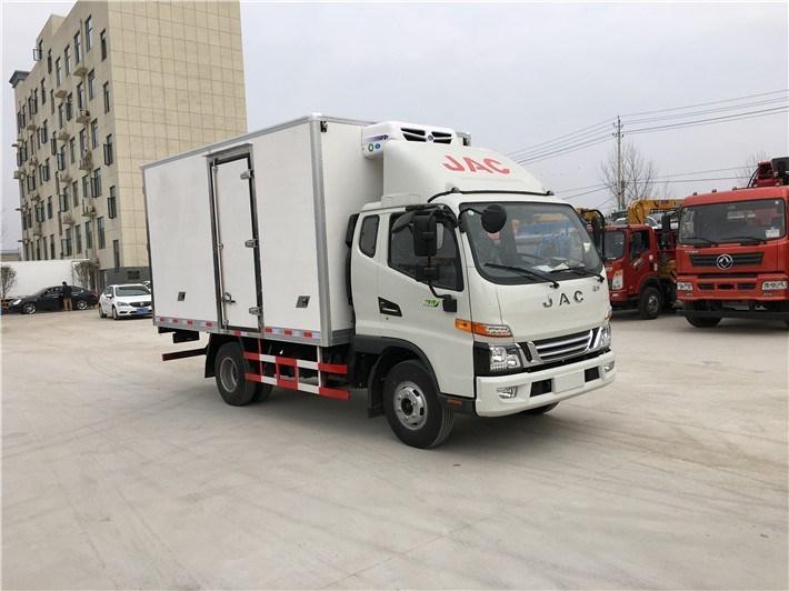 苏州福田牌奥铃排半国五型冷藏车厢长5.1米