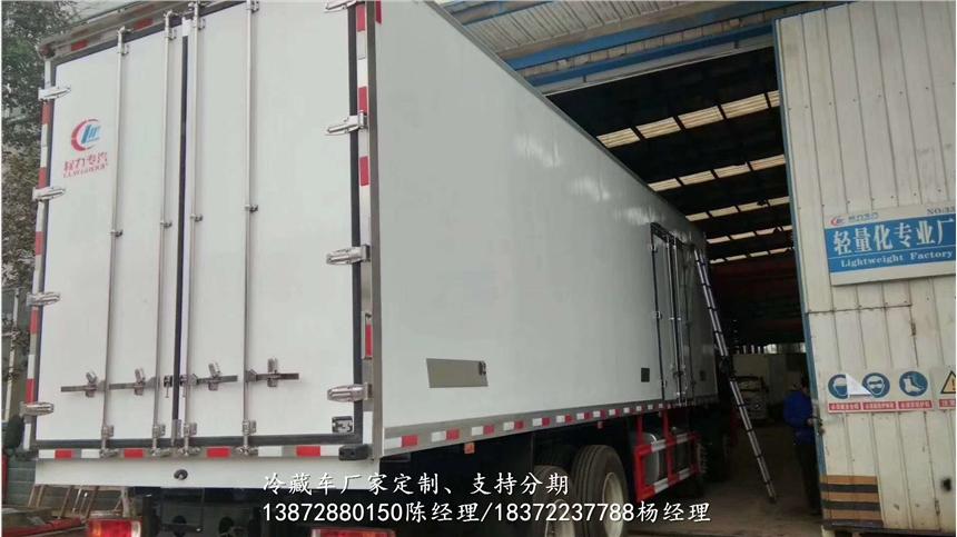 解放J6帶肉鉤冷藏車專賣店地址_解放J6帶肉鉤冷藏車多少錢一輛