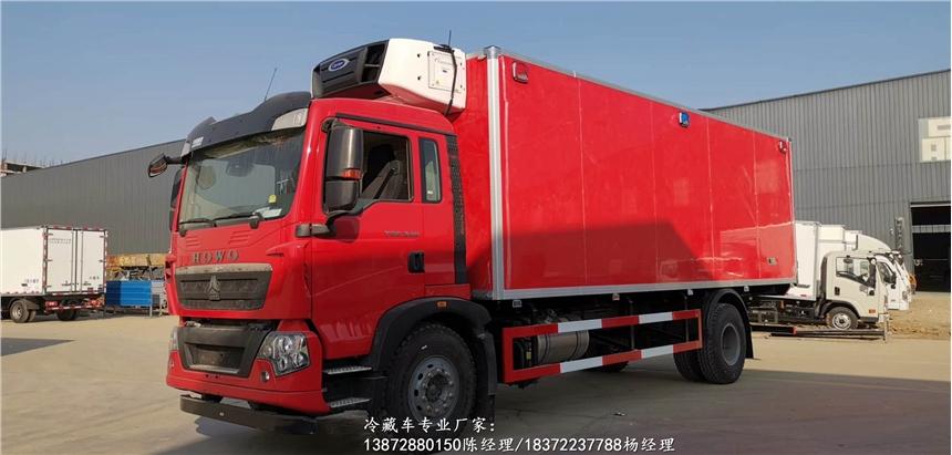 国六重汽汕德卡G7前四后八带温湿度监控仪运输车协助上户