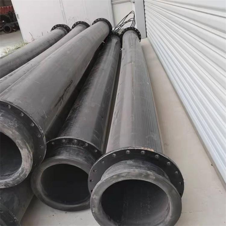 河南梓哲鋼襯超高管超高分子量聚乙烯管尾礦用管DN355耐磨管