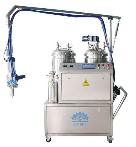 東莞久耐機械小型低壓聚氨酯發泡機生產廠家,自動清洗,節約環保