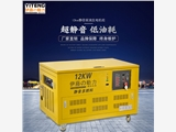 戶外施工12KW多燃料靜音汽油發電機
