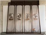 黄古铜铝板雕花屏风、双面铝艺家装格栅满足中式装饰需求