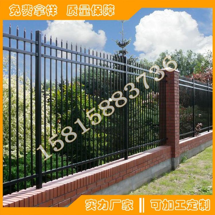 東莞小區圍欄欄桿生產廠家 深圳工業園鐵藝防護圍欄款式定做