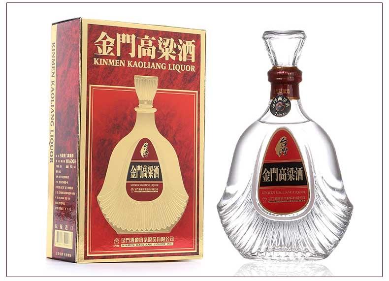 紅盒扁瓶金門高粱823紀念酒58度600毫升清香型批發