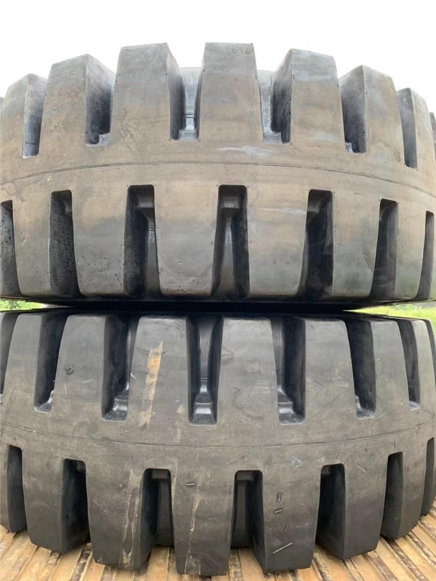大型礦山輪胎半實心L-5深花直角紋花紋29.5-25層級送內胎含票送內胎