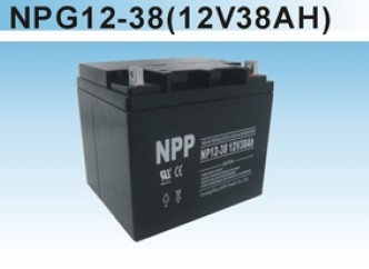 NPP耐普蓄电池NP12-38 免维护铅酸正品报价ups不间断电源专用蓄电池