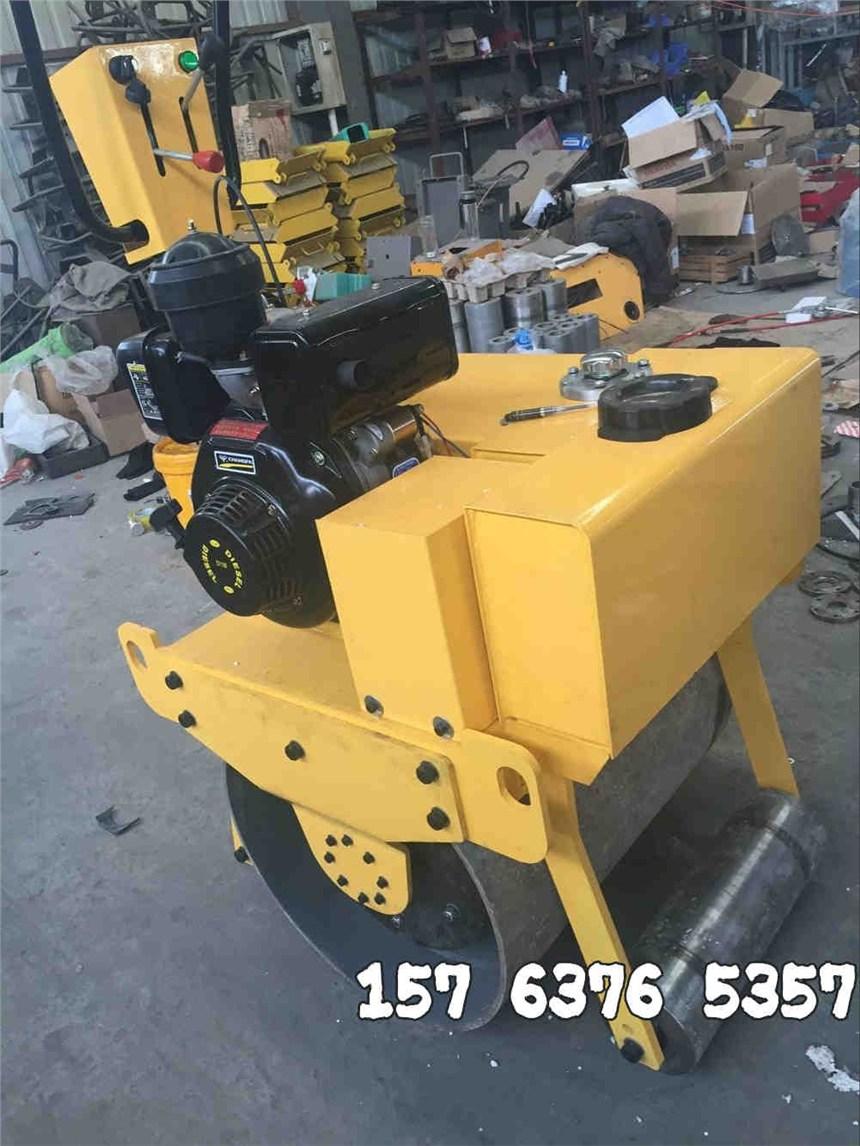 浩鸿小型手扶单轮压路机轮宽60cm小巧机身可用现在施工场所