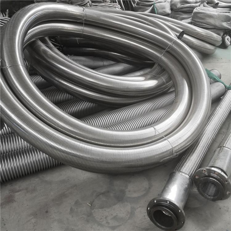 内衬四氟金属软管 河北超然 304不锈钢波纹管安装灵活