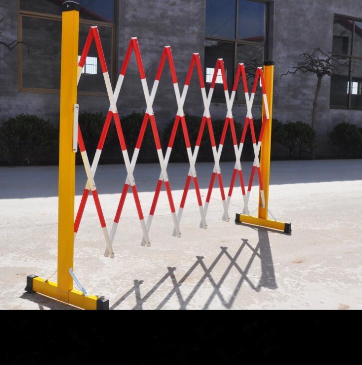 安全围栏   玻璃钢管式    黑黄色