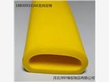 黃色硅膠O型空心發泡耐磨損密封條