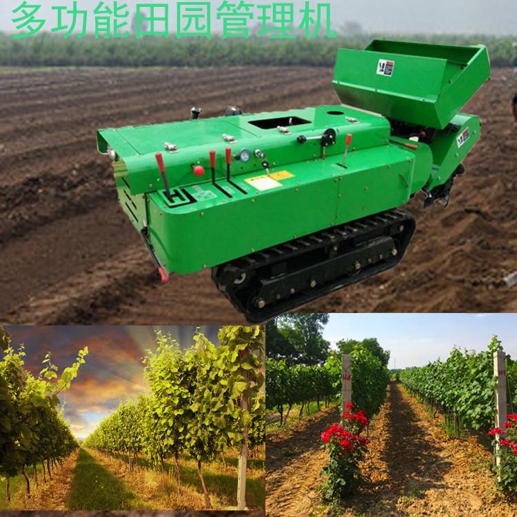 自走式多功能施肥机 履带果园管理开沟施肥机