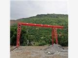 亳州譙城區淝河鎮10噸龍門吊安裝現場