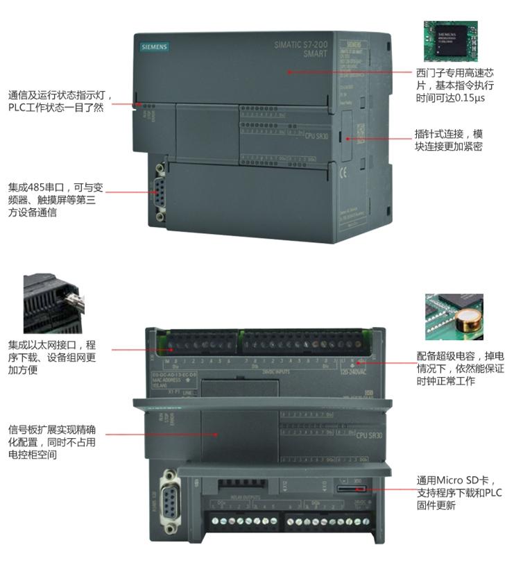 西门子S7 200 SMART CPU ST40 6ES7288-1ST40-0AA0