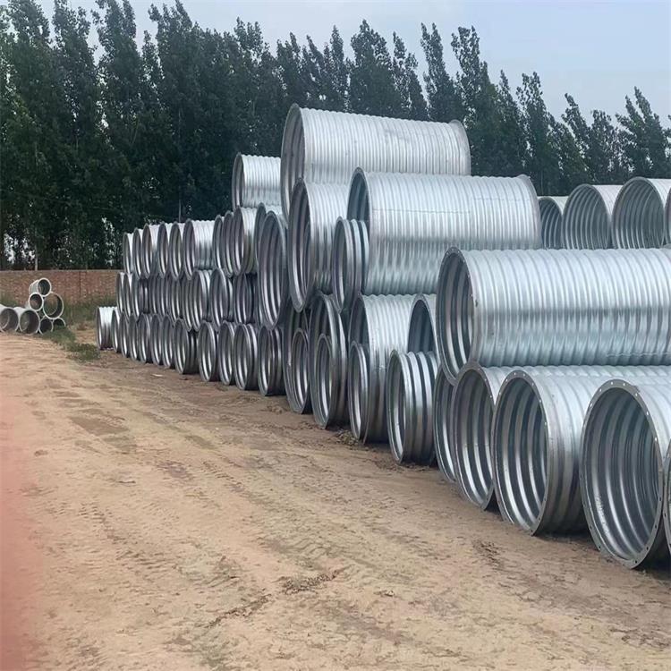 管道外包整裝鋼波紋涵管 隧道涵洞金屬波紋管 貨源充足