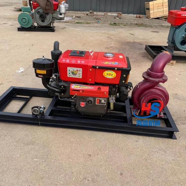 高壓消防柴油機水泵 柴油機應急6寸水泵