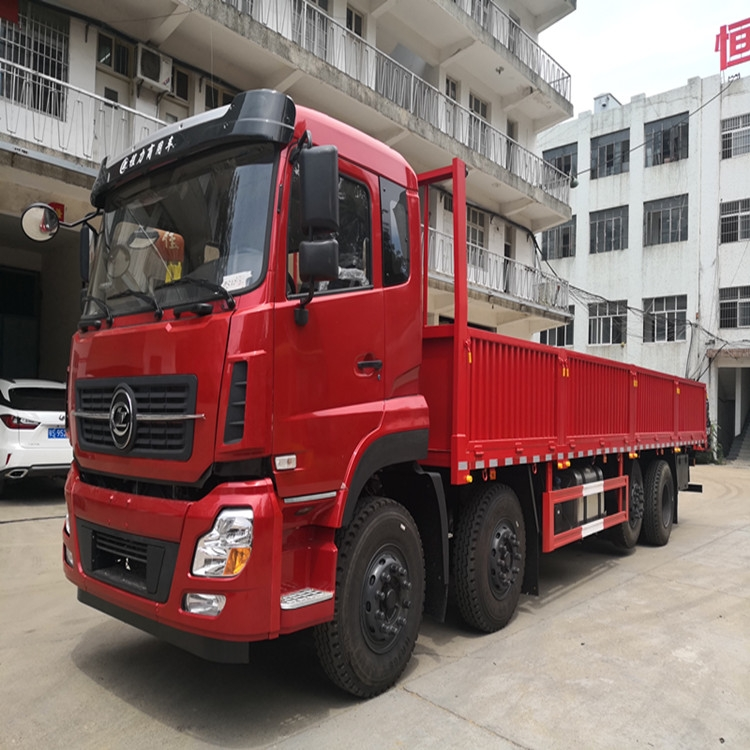 便宜的9米6國六東風天龍前四后六低欄平板載貨車多少錢一臺