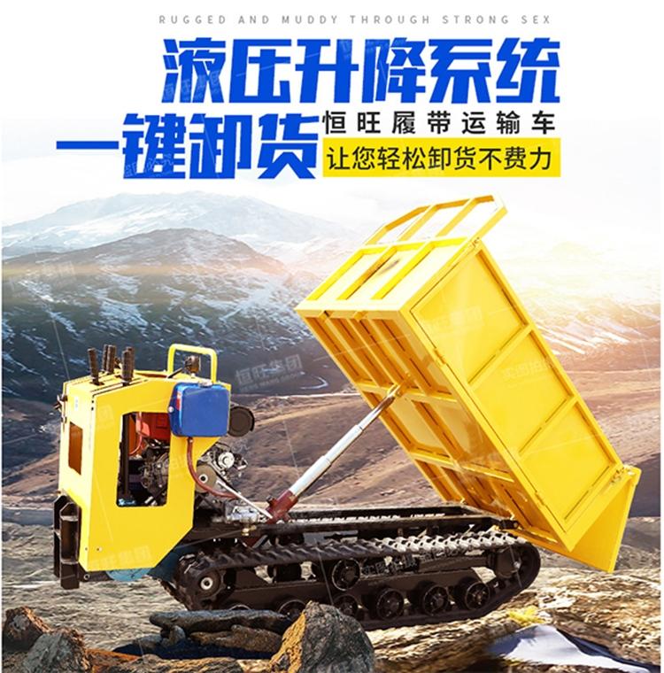液壓升降履帶式運輸車 柴油大馬力工程運輸車 山區工程履帶車