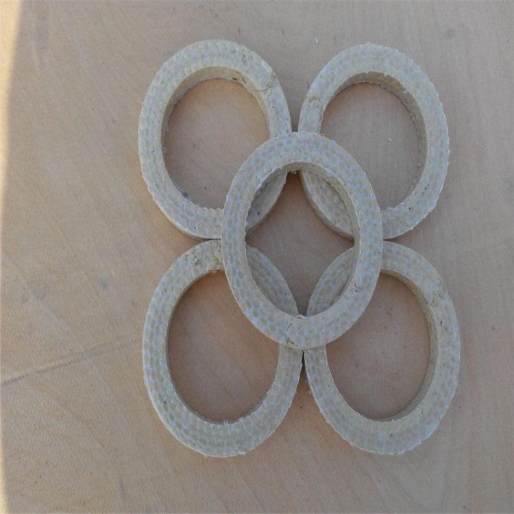 含油四氟盤根 柔性石墨編織盤根環