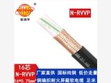 金環宇電纜 深圳耐火電纜廠家 批發 N-RVVP16X0.75 國標屏蔽電纜