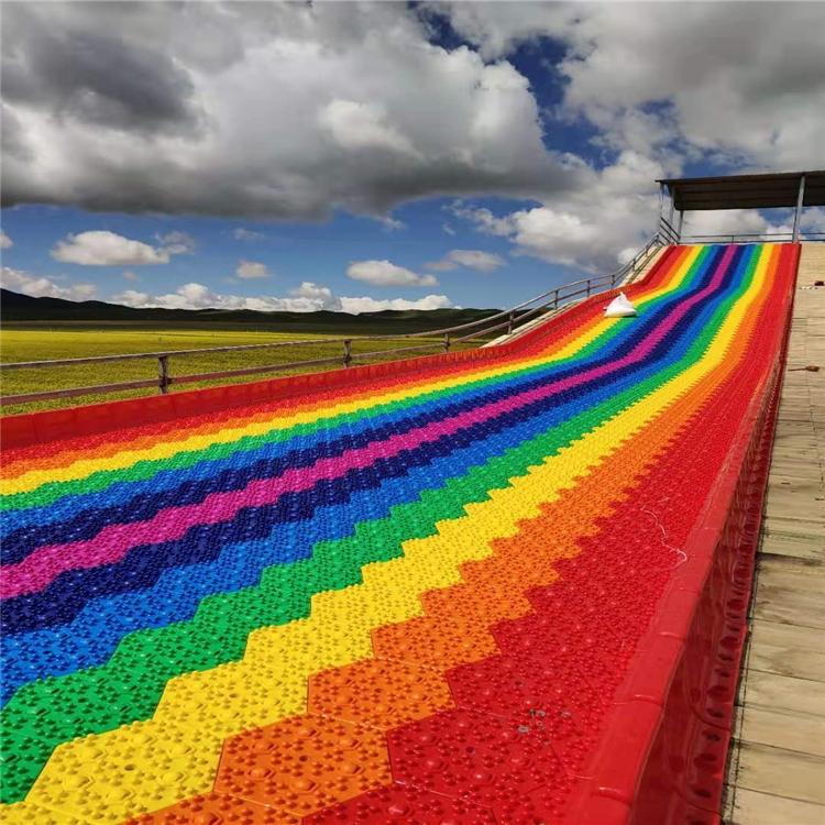 彩虹七彩滑道廠家 廣場游樂設備彩虹滑梯 彩虹七彩滑梯