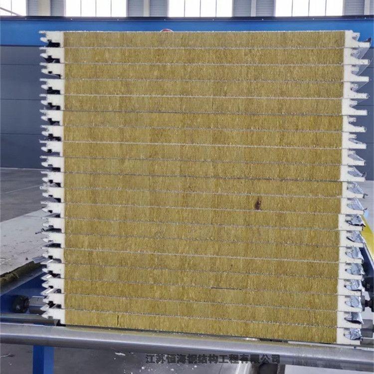 江蘇無錫市200mm厚聚氨酯封邊巖棉夾芯板騰威加工廠家真誠合作