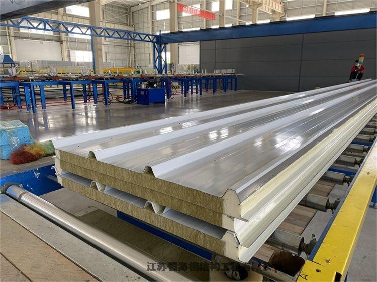 上海寶山區150mm厚聚氨酯封邊巖棉夾芯板碧水加工廠家真誠合作